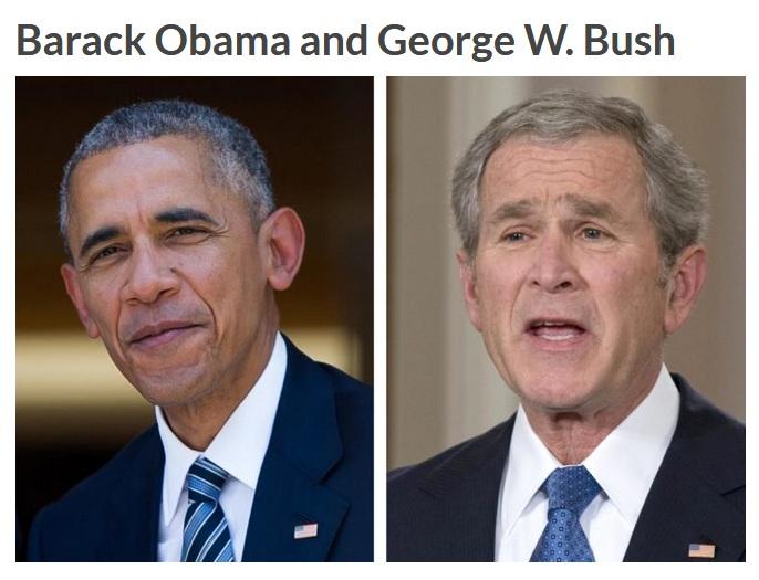 Barack Obama dan Bush (Reader Digest)