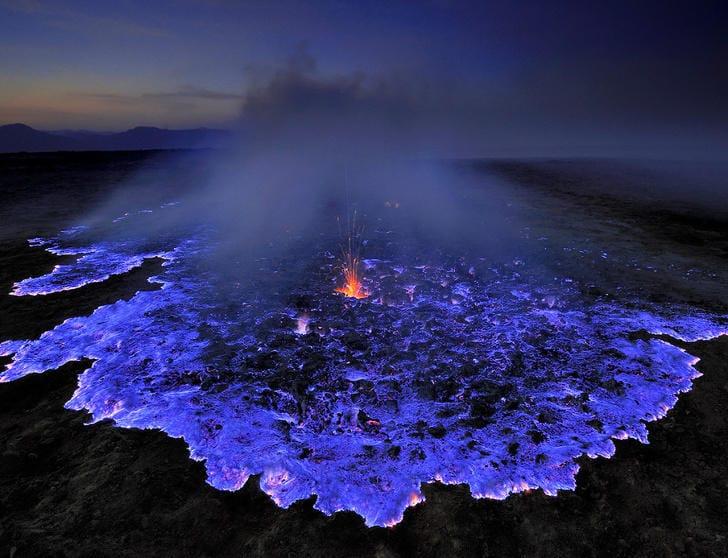 Blue lava Volcano, Indonesia
