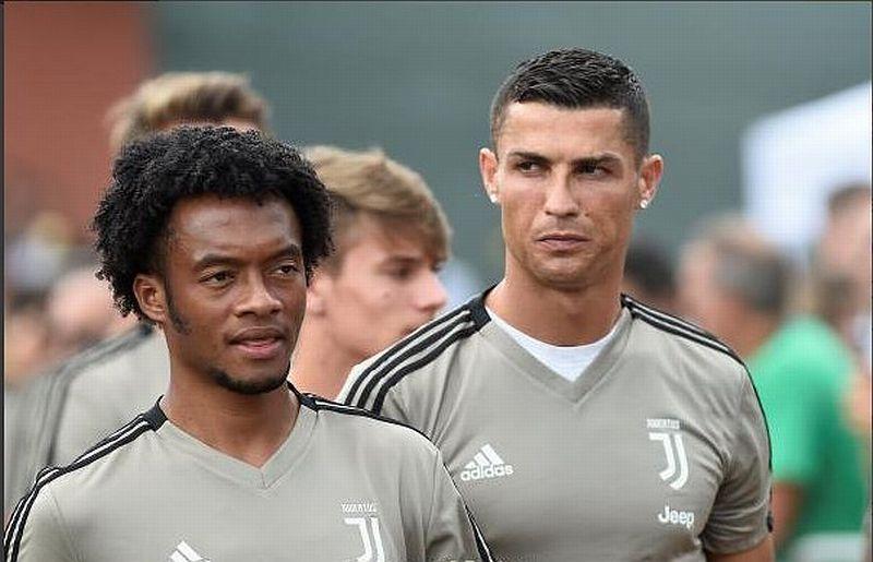 Juan Cuadrado dan Cristiano Ronaldo