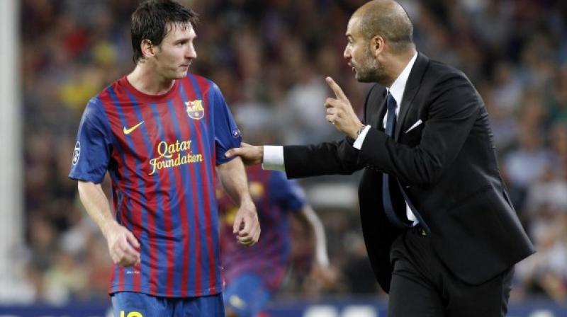 Lionel Messi dan Josep Guardiola