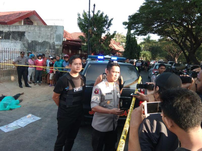 Begal di Makassar Ditembak Mati (foto: Herman A/Okezone)