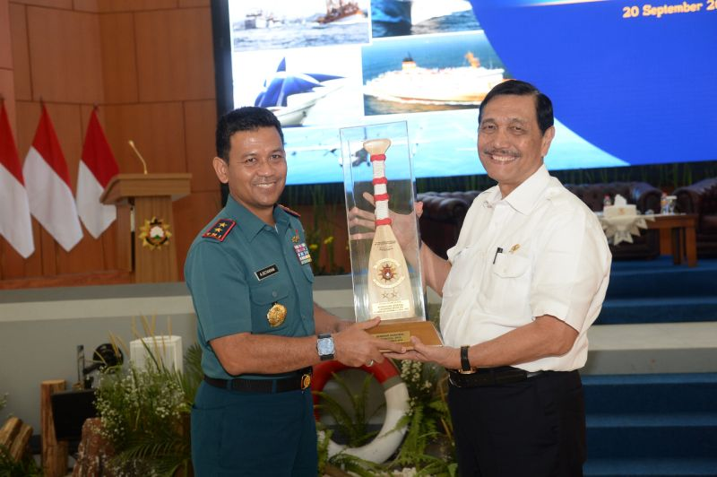 Menko Kemaritiman RI Luhut Binsar Panjaitan dalam Seminar Maritim Nasional Tahun 2018 di Seskoal, Jakarta (foto: Ist)