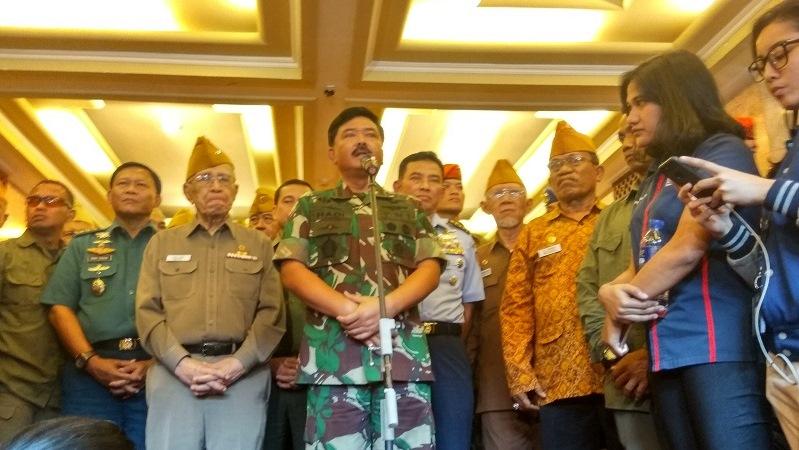 Panglima TNI Marsekal Hadi Tjahjanto. (Foto : Badriyanto/Okezone)