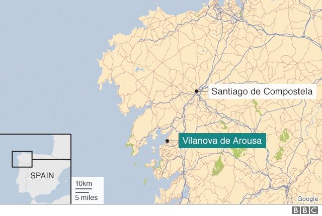 Peta di Spanyol