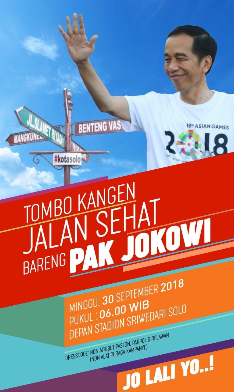 Jalan sehat bareng Jokowi