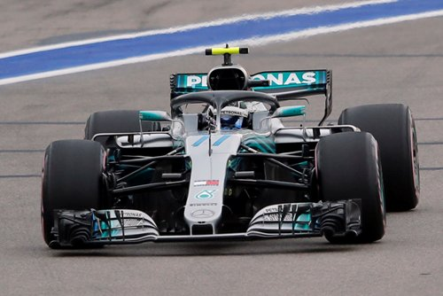 Pembalap Mercedes AMG Petronas Valtteri Bottas