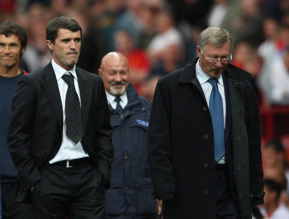 Rou Keane dan Sir Alex Ferguson (Foto: Sportskeeda)