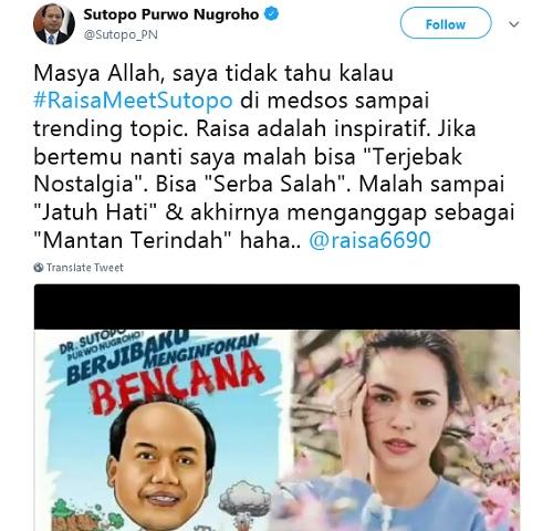 Raisa Meet Sutopo