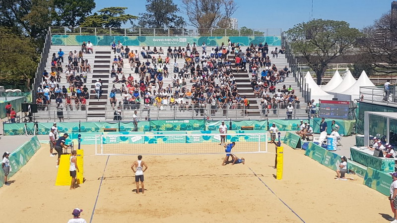 Tim Voli Pantai Putra Indonesia di Youth Olympic Games 2018. Foto: Kemlu RI