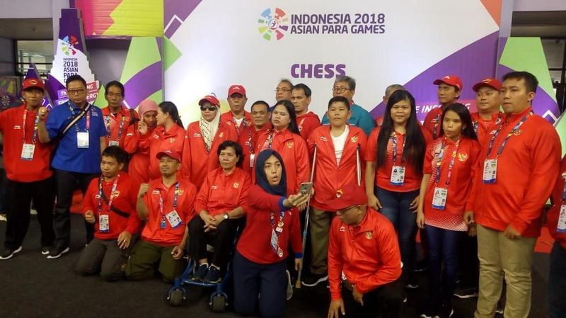 Tim Catur Asian Para Games 2018 (Foto: Istimewa)
