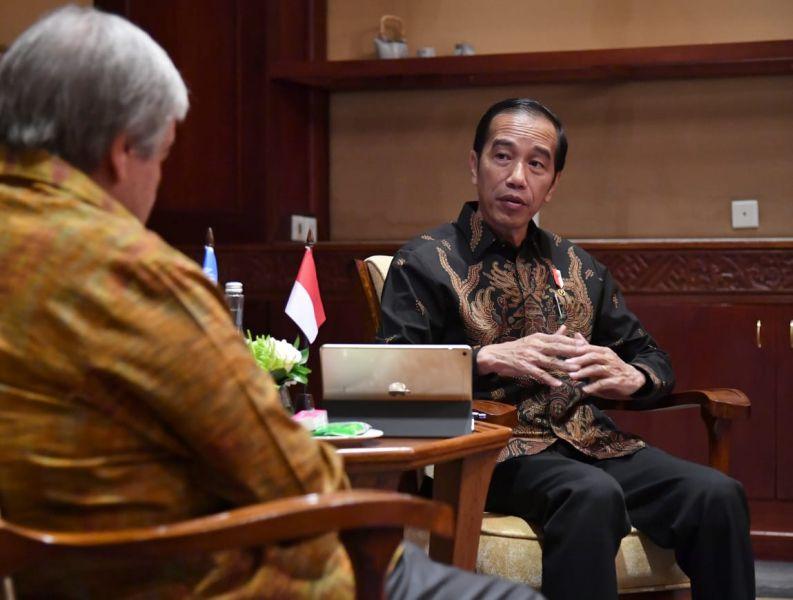 Presiden Jokowi Bersama Sekretaris Jenderal PBB Antonio Guterres (foto: Biro Pers Setpress)