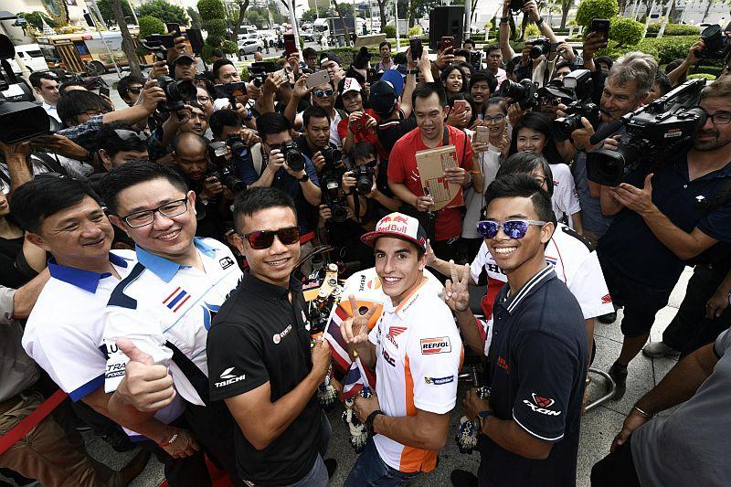 Marc Marquez disambut di Thailand
