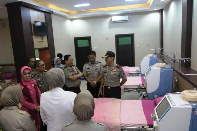 Instalasi rehabilitasi medis di RS Bhayangkara Semarang. (Foto : Taufik Budi)