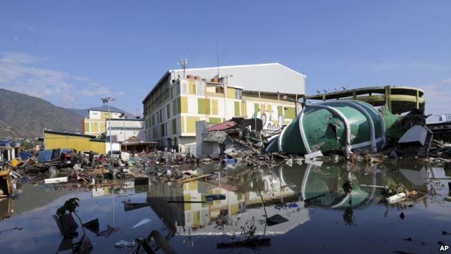 Tsunami Palu. (Foto: AP)