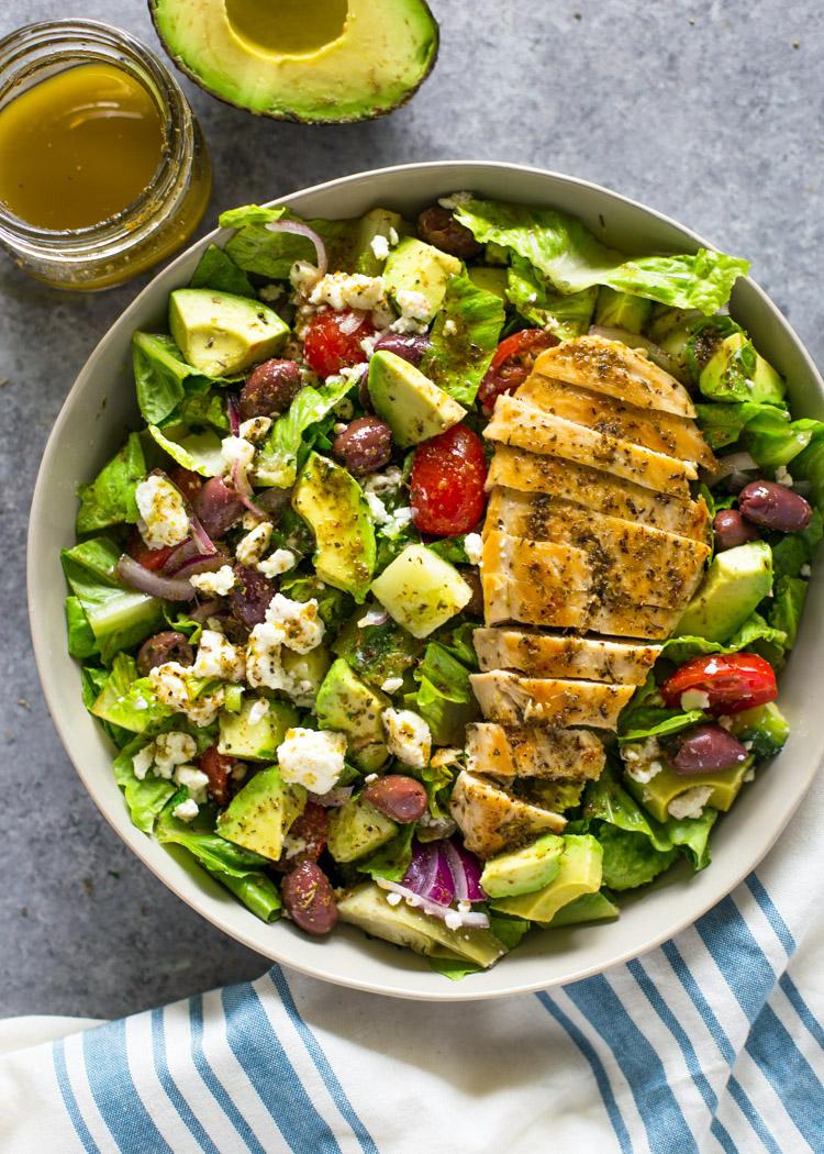 Ayam Bakar dan Salad (Gimmedelicious)