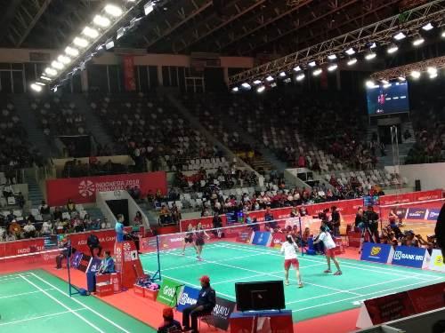 Bulu Tangkis Asian Para Games 2018 (Foto: Admiraldy Eka Saputra/Okezone)