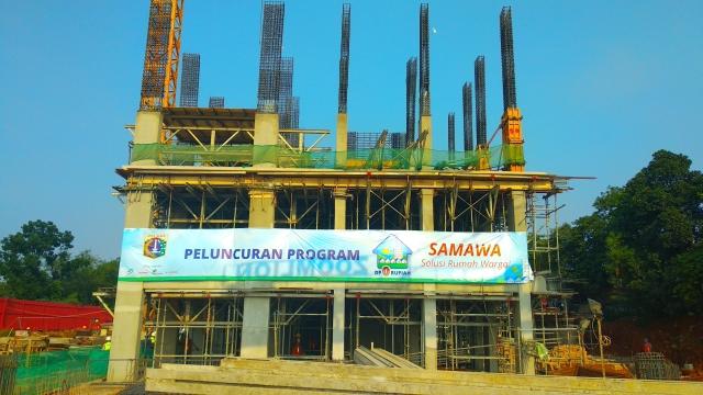 Proyek rumah DP 0 rupiah Klapa Village. (Okezone/Fadel Prayoga)