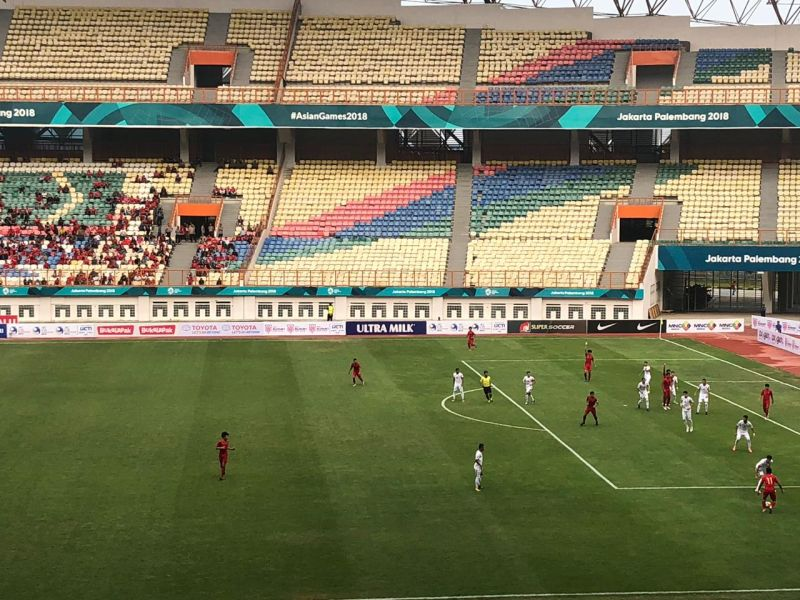 Timnas Indonesia U-19 vs Yordania (Foto: Djanti Virantika/Okezone)