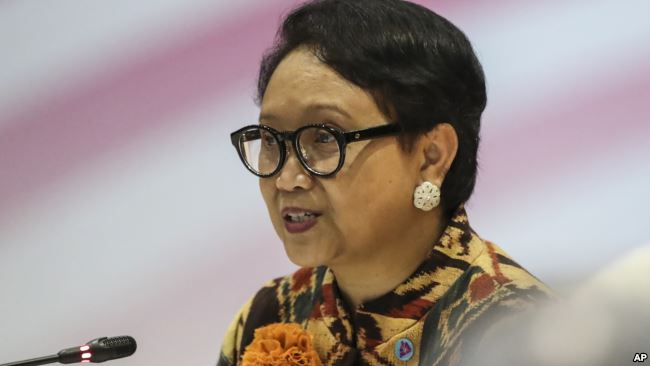 Menteri Luar Negeri RI Retno Marsudi. (Foto: AP)