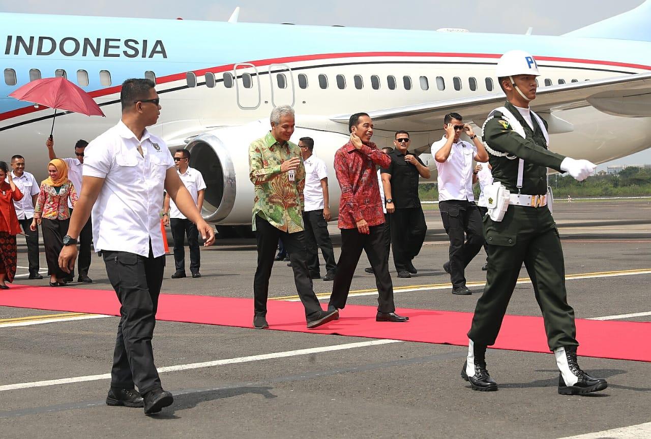 Jokowi tiba di Jawa Tengah