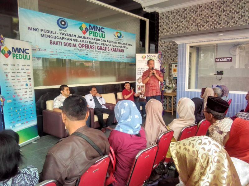 MNC Peduli Gelar Operasi Katarak ke 60 Pasien di Kabupaten Malang (foto: Avirista M/Okezone)