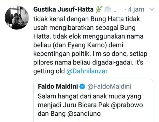 Tweet Cucu Bung Hatta