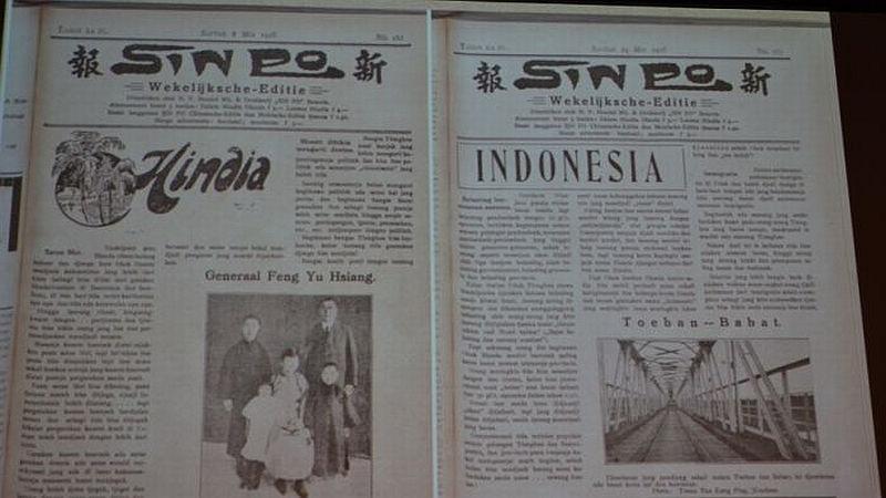 Koleksi koran Sin Po. (Foto : ABC Australia/Sastra Wijaya)