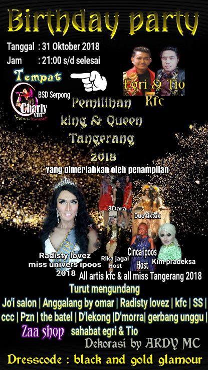 Pamflet Birthday Party LGBT di Tangsel (foto: Ist)