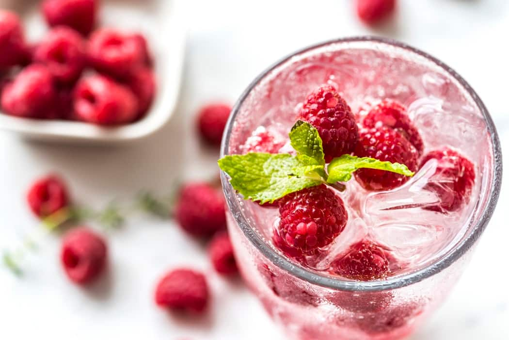 raspberry water