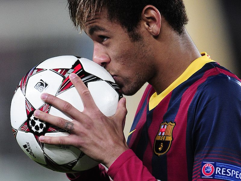 Neymar Jr saat berkostum Barcelona