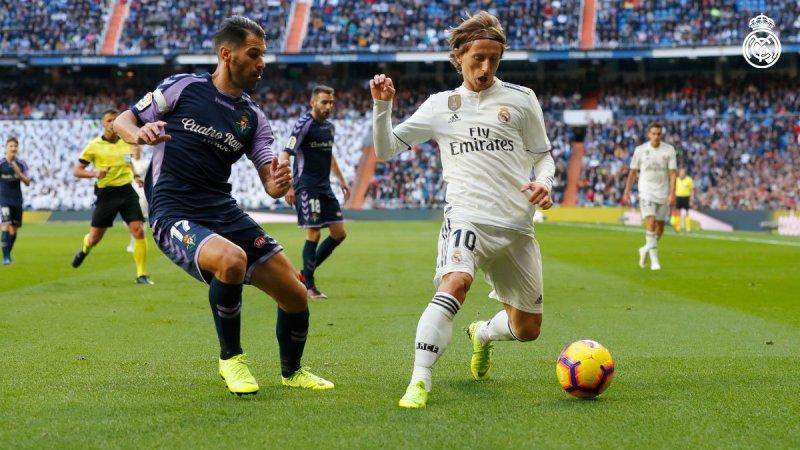 Real Madrid vs Real Valladolid (Foto: Twitter Resmi Madrid)