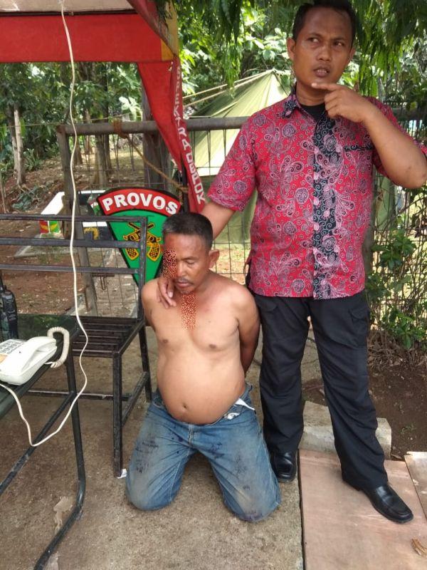 Diduga Pelaku Penculikan Anak di Depok (foto: Wahyu M/Okezone)