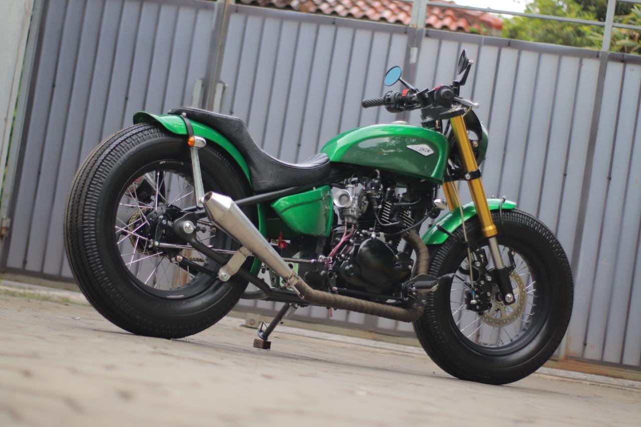 Spesifikasi Lengkap Motor Custom Kawasaki W175 Milik Jokowi