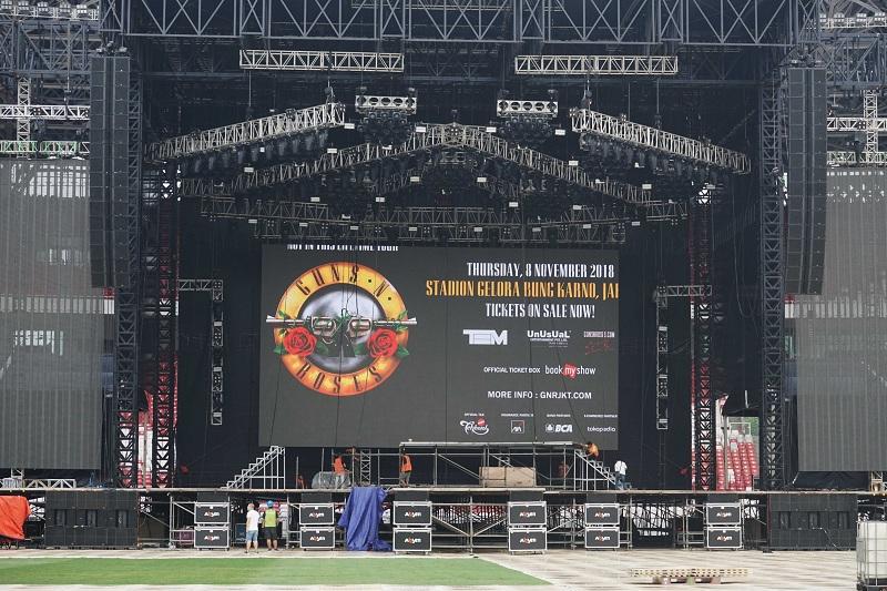 Panggung konser Guns N Roses