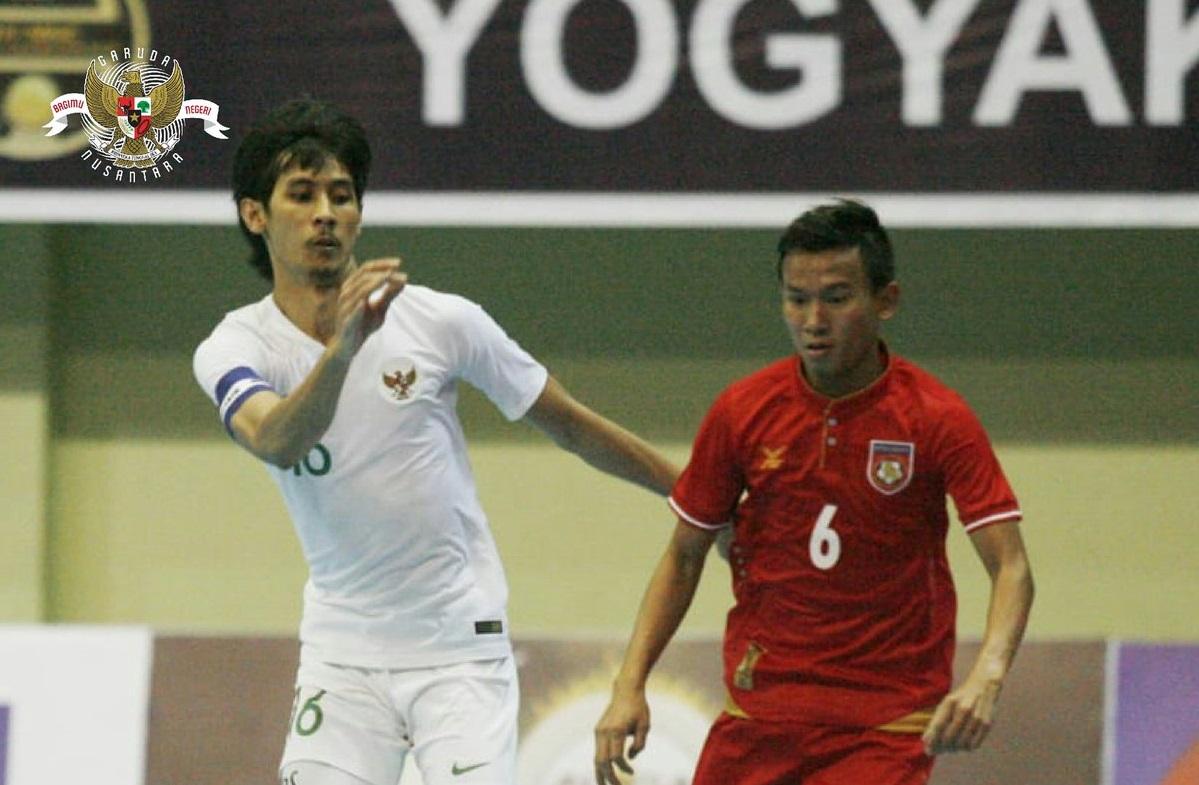 Timnas Futsal Indonesia vs Myanmar (Foto: Twitter resmi PSSI)