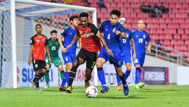Laga Thailand vs Timor Leste. Foto: Laman resmi AFF