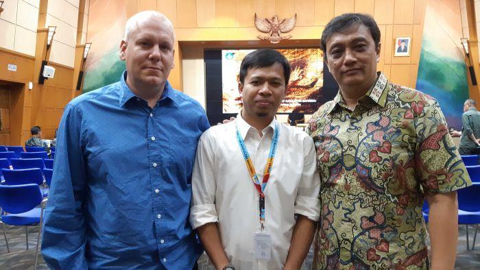 (Dari kiri ke kanan) Maxime Aubert, Adhi Agus Oktaviana, Pindi Setiawan (ABC, Nurina Savitri)