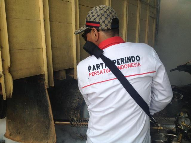 Rescue Perindo Bengkulu asapi rumah warga