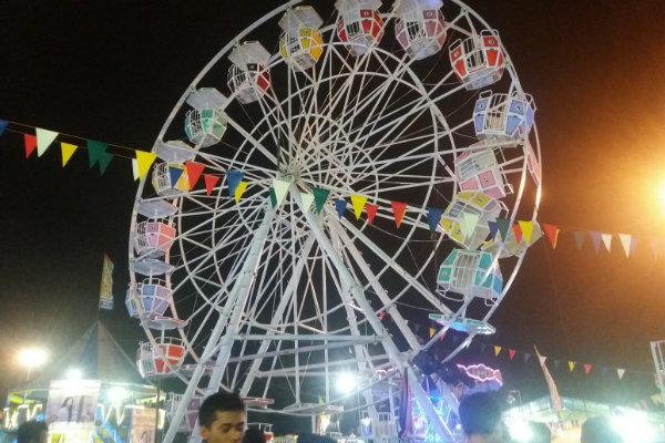 Insiden bianglala di Pasar Malam Sekaten. (Foto : Harian Jogja)