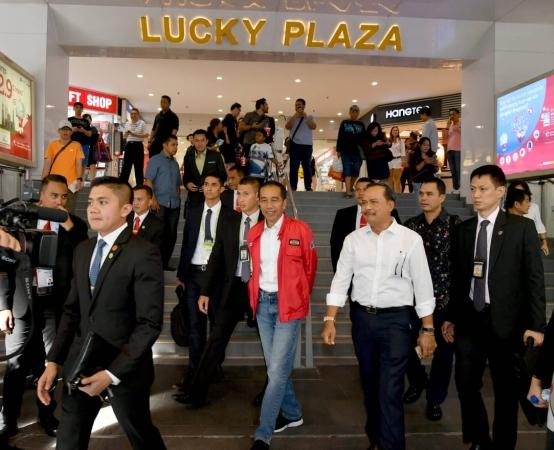Jokowi di Singapura. (Foto: Biro Pers Setpres)