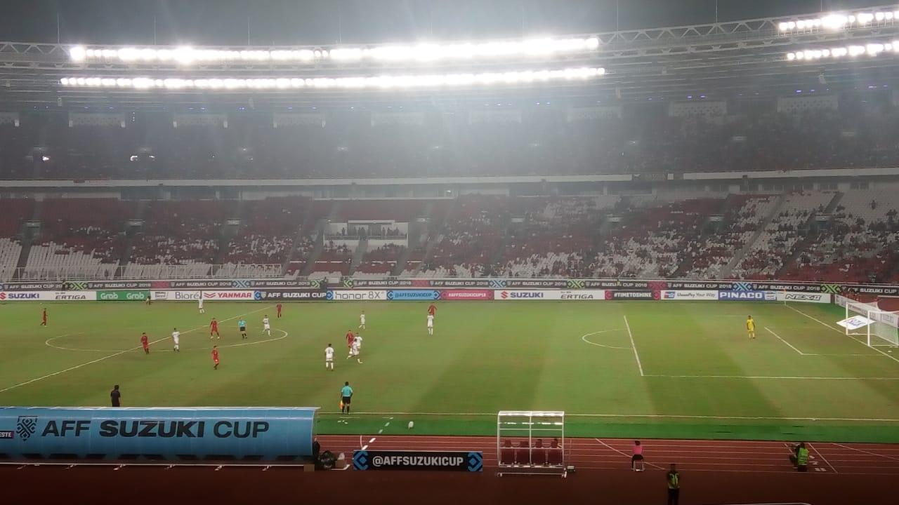 Timnas Indonesia vs Timor Leste (Foto: Rivan Nasri Rachman/Okezone)