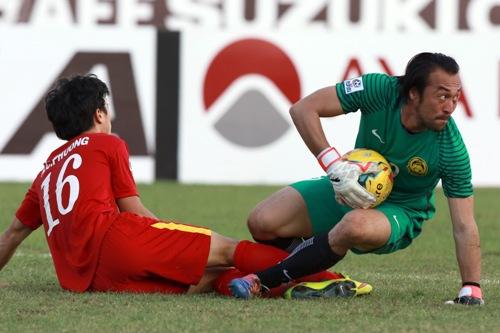 Kiper Timnas Malaysia Khairul Fahmi Che Mat