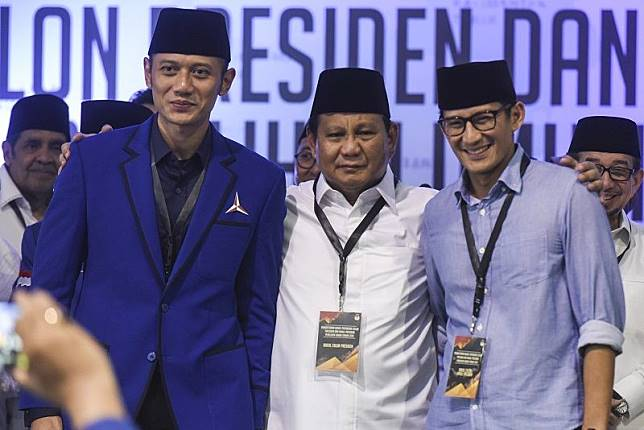 Prabowo-Sandi dan AHY