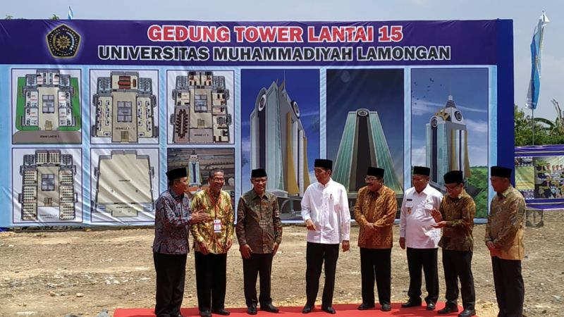 Jokowi peresmian Masjid di Universitas Muhamadiyah Lamongan (Okezone)