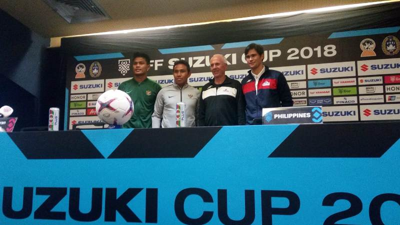 Konferensi pers jelang laga Timnas Indonesia vs Filipina