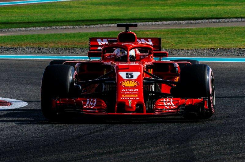 Pembalap Scuderia Ferrari Sebastian Vettel