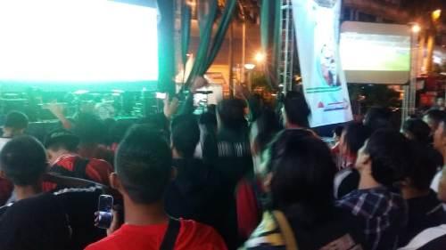 Suasana nonton bareng Timnas Indonesia