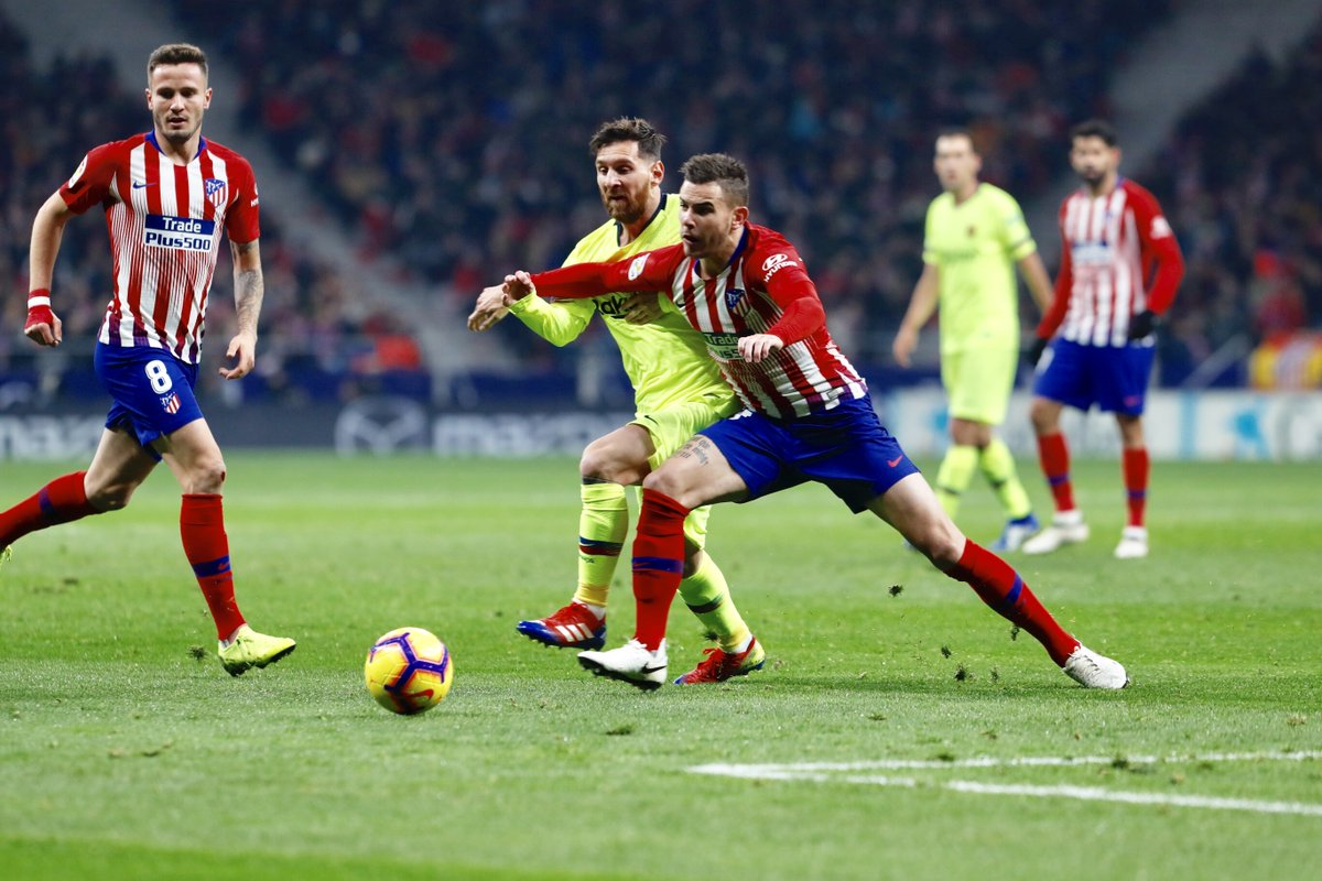Atletico Madrid vs Barcelona (Foto: Twitter Barcelona)