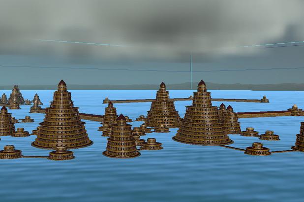 Ilustrasi Kota Atlantis