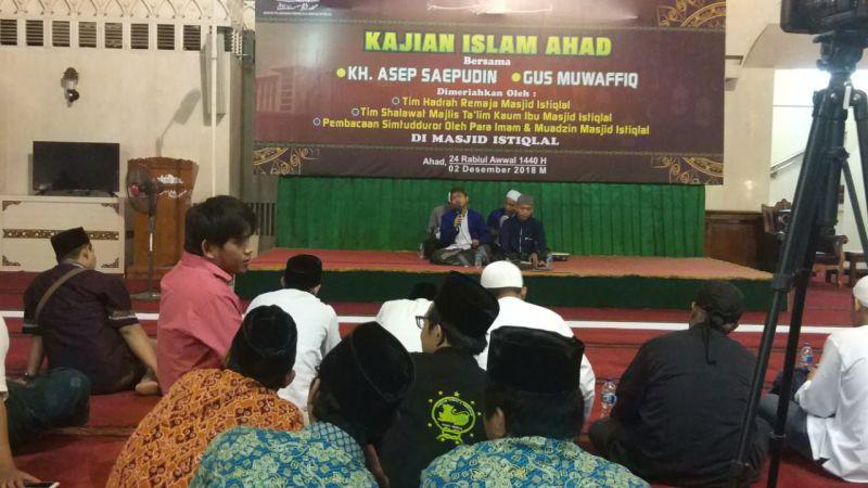 Kajian Islam Peringati Maulid Nabi di Masjid Istiqlal, Jakarta (foto: Hambali/Okezone)